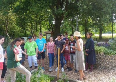 Klassenführung-Kräutergarten
